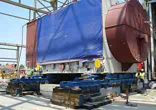 роликовая тележка 280 тонн